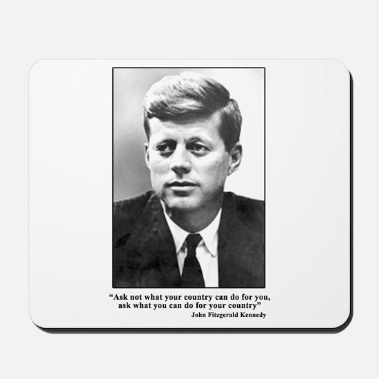 JFK Inaugural Quote Mousepad