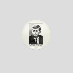 JFK Inaugural Quote Mini Button