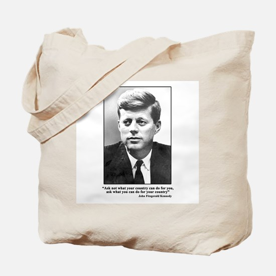 JFK Inaugural Quote Tote Bag