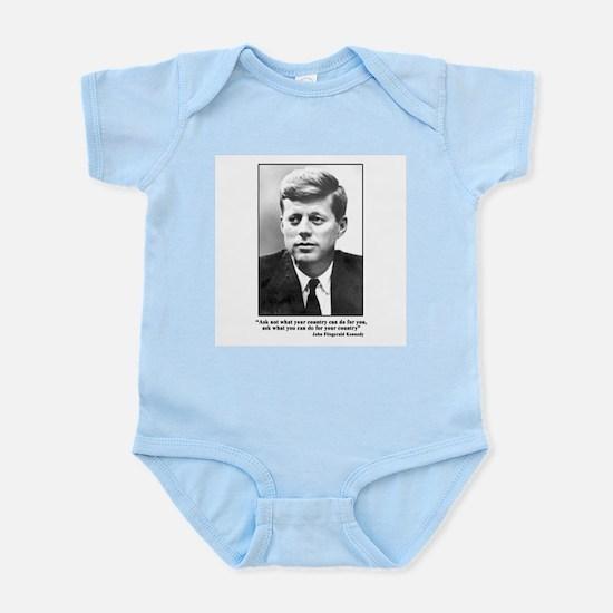 JFK Inaugural Quote Infant Bodysuit