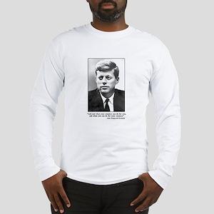 JFK Inaugural Quote Long Sleeve T-Shirt