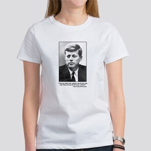 JFK Inaugural Quote Women's T-Shirt