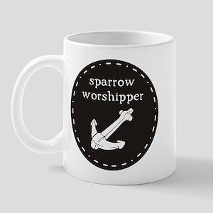 Sparrow Worshipper (circular) Mug
