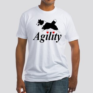 Border Collie Agility Fitted T-Shirt