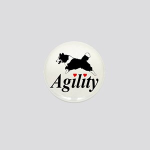 Border Collie Agility Mini Button