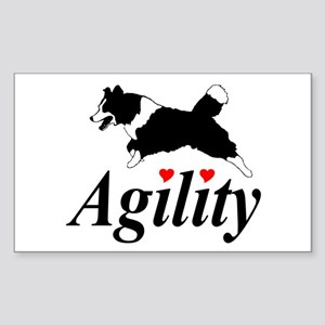 Border Collie Agility Rectangle Sticker