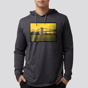Retro Brooklyn Bridge Majestic N Mens Hooded Shirt
