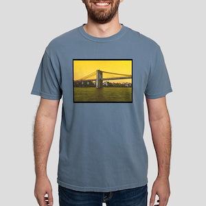Retro Brooklyn Bridge Ma Mens Comfort Colors Shirt