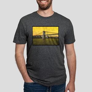 Retro Brooklyn Bridge Majes Mens Tri-blend T-Shirt