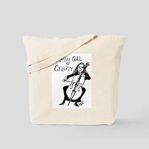 Classy Gal Cellist Tote Bag