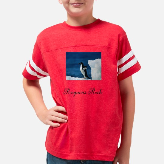 Adelie Penguins Rock Youth Football Shirt
