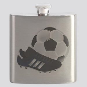 Soccer Ball and Cleats Flask