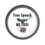 Free Speech Means Me Too Wall Clock