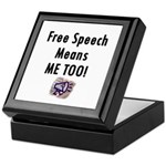 Free Speech Means Me Too Keepsake Box