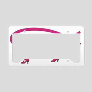 Pink Boots Fish Cult License Plate Holder