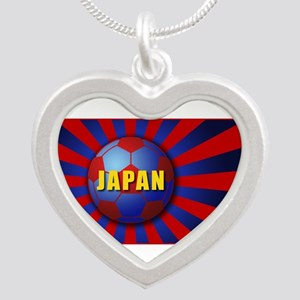 sunrising soccer Silver Heart Necklace