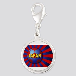 sunrising soccer Silver Round Charm