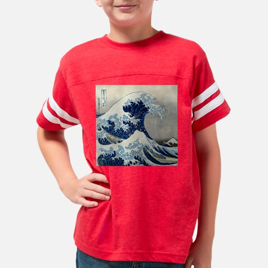 Pillow Hokusai Wave Youth Football Shirt