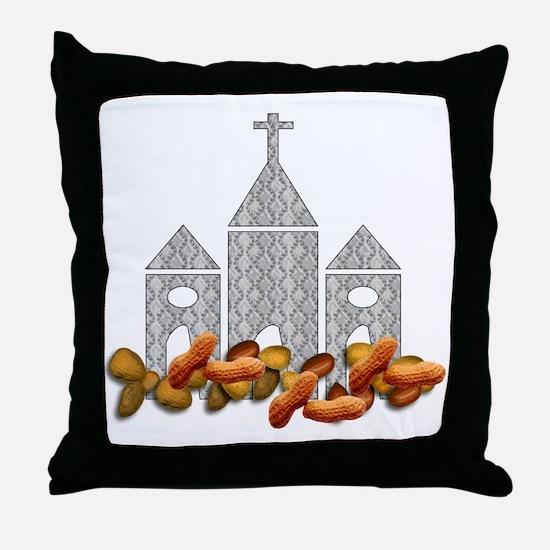 Religious Nuts Throw Pillow