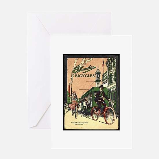 Columbia Bicycles old Vintage Adver Greeting Cards