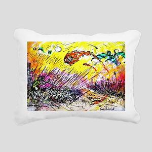 war color  Rectangular Canvas Pillow