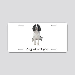 Good Springer Spaniel Aluminum License Plate