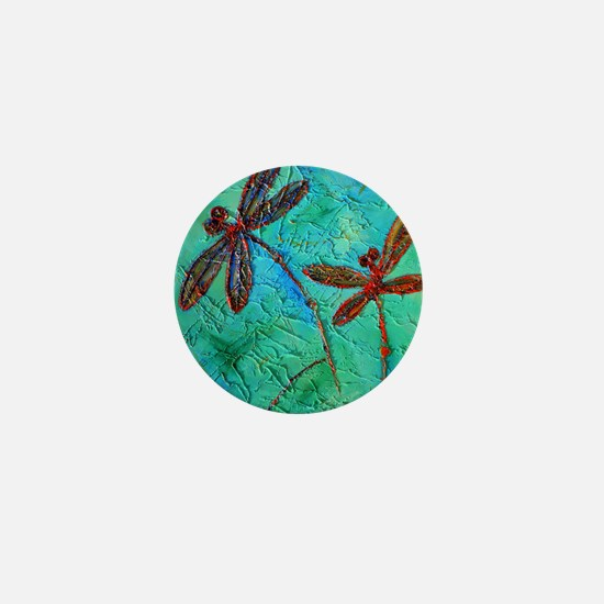 Dragonfly Dance Mini Button