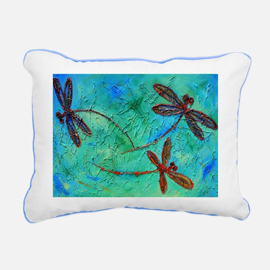 Dragonfly Dance Rectangular Canvas Pillow
