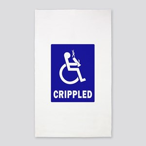 Crippled 3'x5' Area Rug