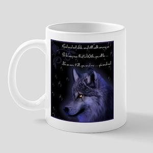 night wolf Mug