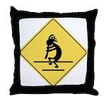 Kokopelli Crossing Throw Pillow