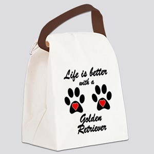Life Is Better With A Golden Retriever Canvas Lunc