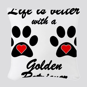 Life Is Better With A Golden Retriever Woven Throw