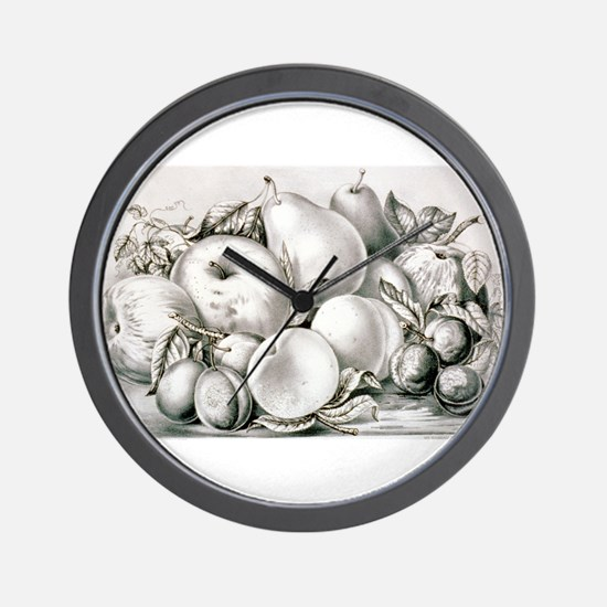 Group of fruit - 1875 Wall Clock