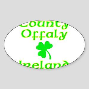 County Offaly, Ireland Oval Sticker