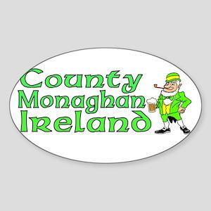 County Monaghan, Ireland Oval Sticker