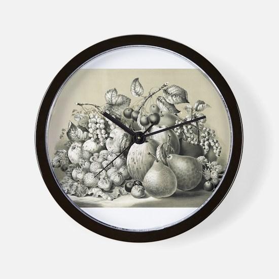 Summer fruits - 1861 Wall Clock
