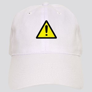 Exclamation Point Caution Sign Baseball Cap