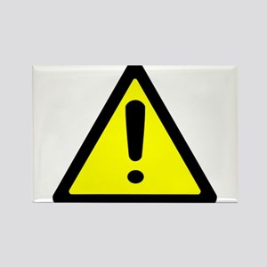 Exclamation Point Caution Sign Rectangle Magnet