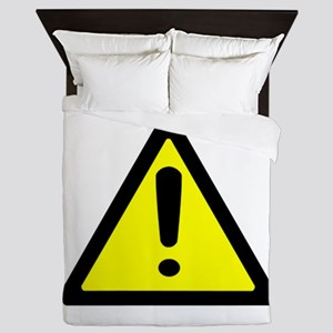 Exclamation Point Caution Sign Queen Duvet