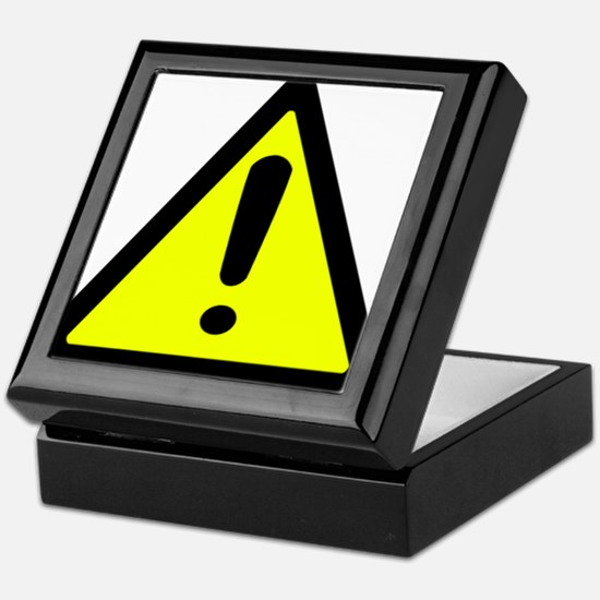 Exclamation Point Caution Sign Keepsake Box