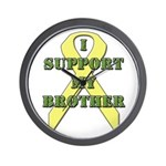I Support My Brother Wall Clock