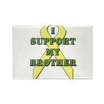 I Support My Brother Rectangle Magnet (10 pack)