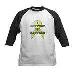 I Support My Brother Kids Baseball Jersey