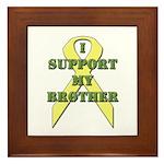 I Support My Brother Framed Tile