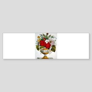 The vase of flowers - 1847 Sticker (Bumper)