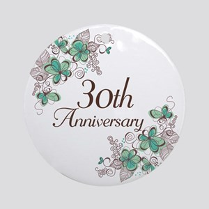 30th Anniversary Keepsake Ornament (Round)