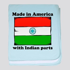 Made In America With Indian Parts baby blanket