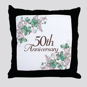 50th Anniversary Keepsake Throw Pillow