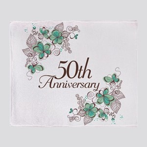 50th Anniversary Keepsake Throw Blanket